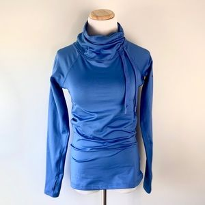 Nike Pro Dri-fit Cowl Neck Pullover Blue Size S